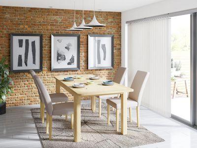 Burbank Extending Dining Table & 4 Taya Chairs