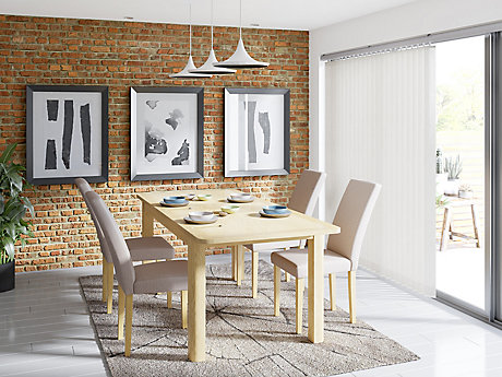 Burbank Extending Dining Table & 4 Taya Chairs