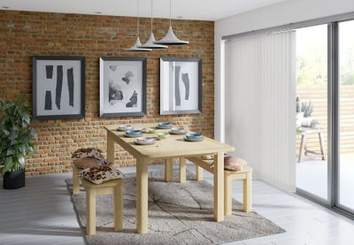 Burbank Extending Dining Table & 2 Benches