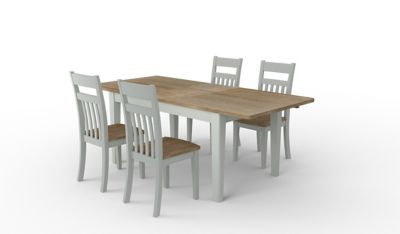 Kinston Extending Dining Table & 4 Chairs