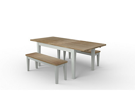 Kinston Extending Dining Table & 2 Benches