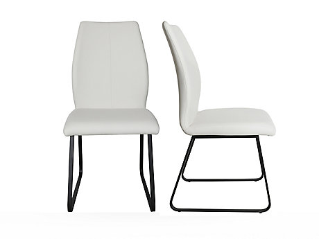 Angular Seat With Sleigh Base Chair (Pair)