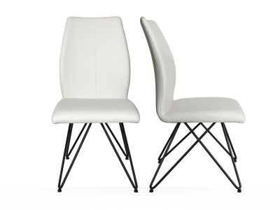 Angular Seat With Eiffel Base Chair (Pair)