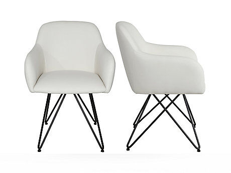 Carver Seat With Eiffel Base Chair (Pair)