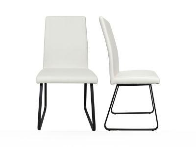 Plain Seat With Sleigh Base Chair (Pair)