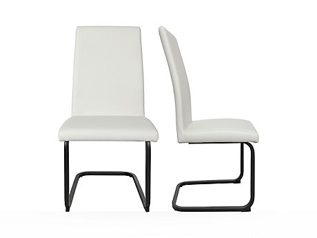 Plain Seat With Cantilever Base Chair (Pair)