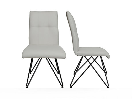 Stitch Back Seat With Eiffel Base Chair (Pair)