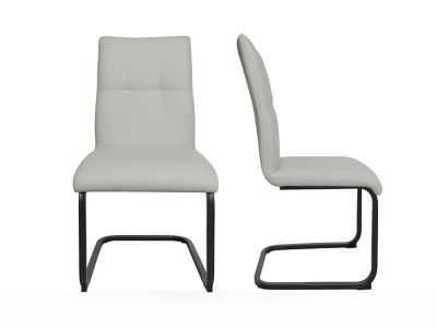 Stitch Back Seat With Cantilever Base Chair (Pair)