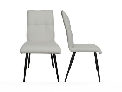 Stitch Back Seat With 4 Leg Base Chair (Pair)