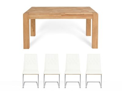 Cargo Portsmore Fixed Dining Table & 4 Vieux Chairs