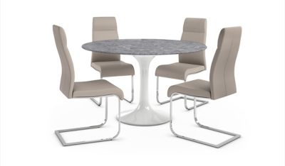 Torano Dining Table & 4 Pompeii Chairs
