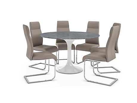 Torano Dining Table & 6 Pompeii Chairs