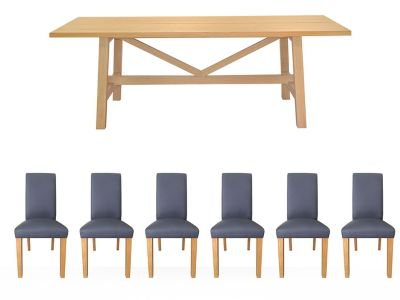 Burwell Dining Table & 6 Darcy Chairs