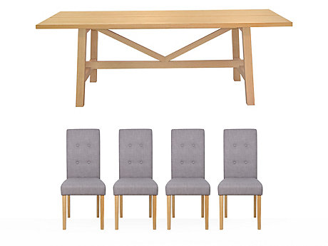 Burwell Dining Table & 4 Lucy Chairs