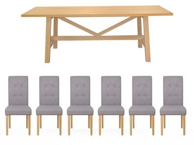 Burwell Dining Table & 6 Lucy Chairs
