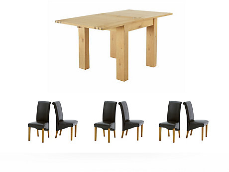 Dovetail Flip Top Dining Table & 6 Darcy Chairs