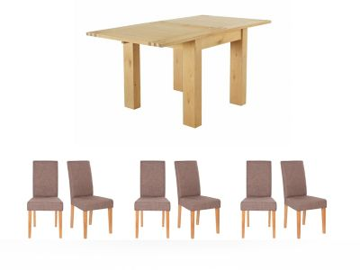 Dovetail Flip Top Dining Table & 6 Taya Chairs