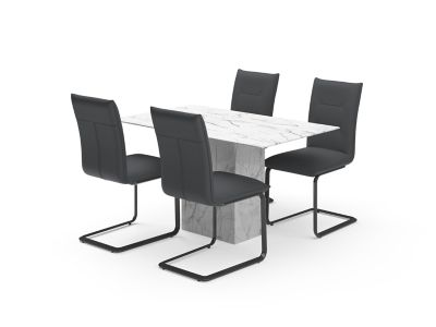 Bridgeford Dining Table & Grey Oretta Chairs