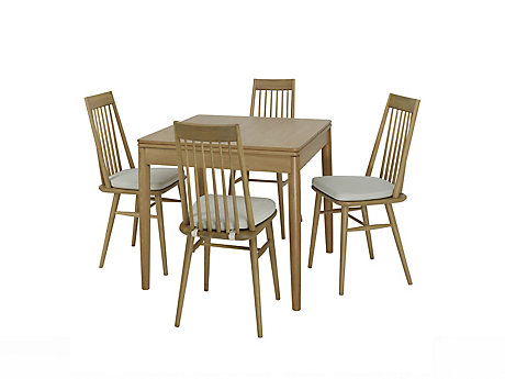 Askett Flip Extending Dining Table and Askett Dining Chairs