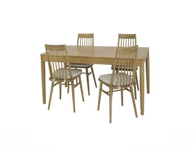 Askett Medium Extending Dining Table and Askett Dining Chairs