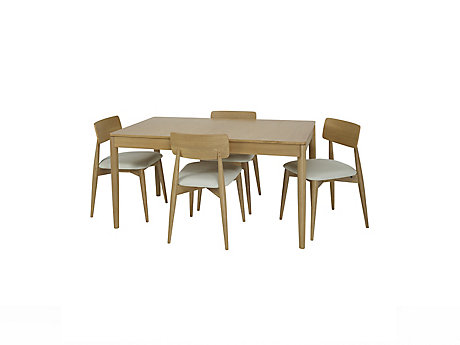 Askett Medium Extending Dining Table and Askett Low Back Dining Chairs