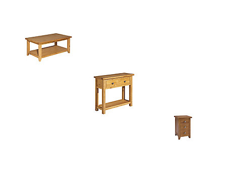 Brookes Coffee Table + Console Table + Lamp Table