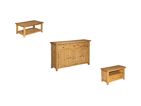 Brookes Coffee Table + Sideboard + Entertainment Unit