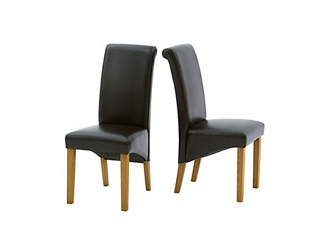 Darcy Leather Effect Dining Chair Pair
