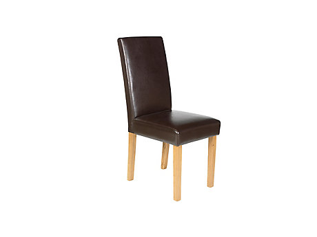 Bella Leather Effect Dining Chair (Pair)