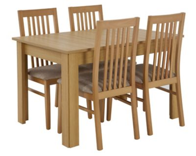 Hampshire Large Extending Dining Table & 4 Wooden Chairs