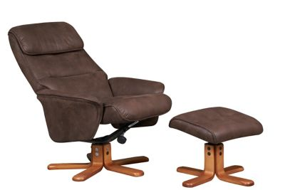 Padbury Swivel Relaxer Chair With Footstool