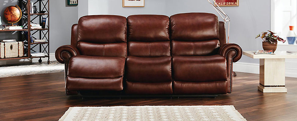 Clarendon 2 Seater Recliner Sofa With Studs